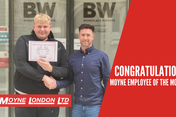 May 2021 Employee of the Month Moyne London
